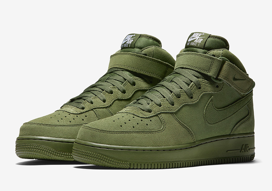 nike air force 1 mid suede legion green first look collective kicks. Black Bedroom Furniture Sets. Home Design Ideas