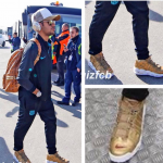 First Look at the Gold Supreme x Nike Air More Uptempo via Neymar Jr?